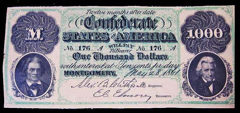 $1000 Confederate Bill - Coin Community Forum