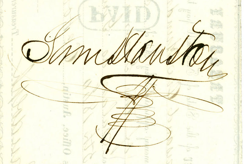 Fancy Signatures For Names Of sam houston s signatureFancy Signatures For Names