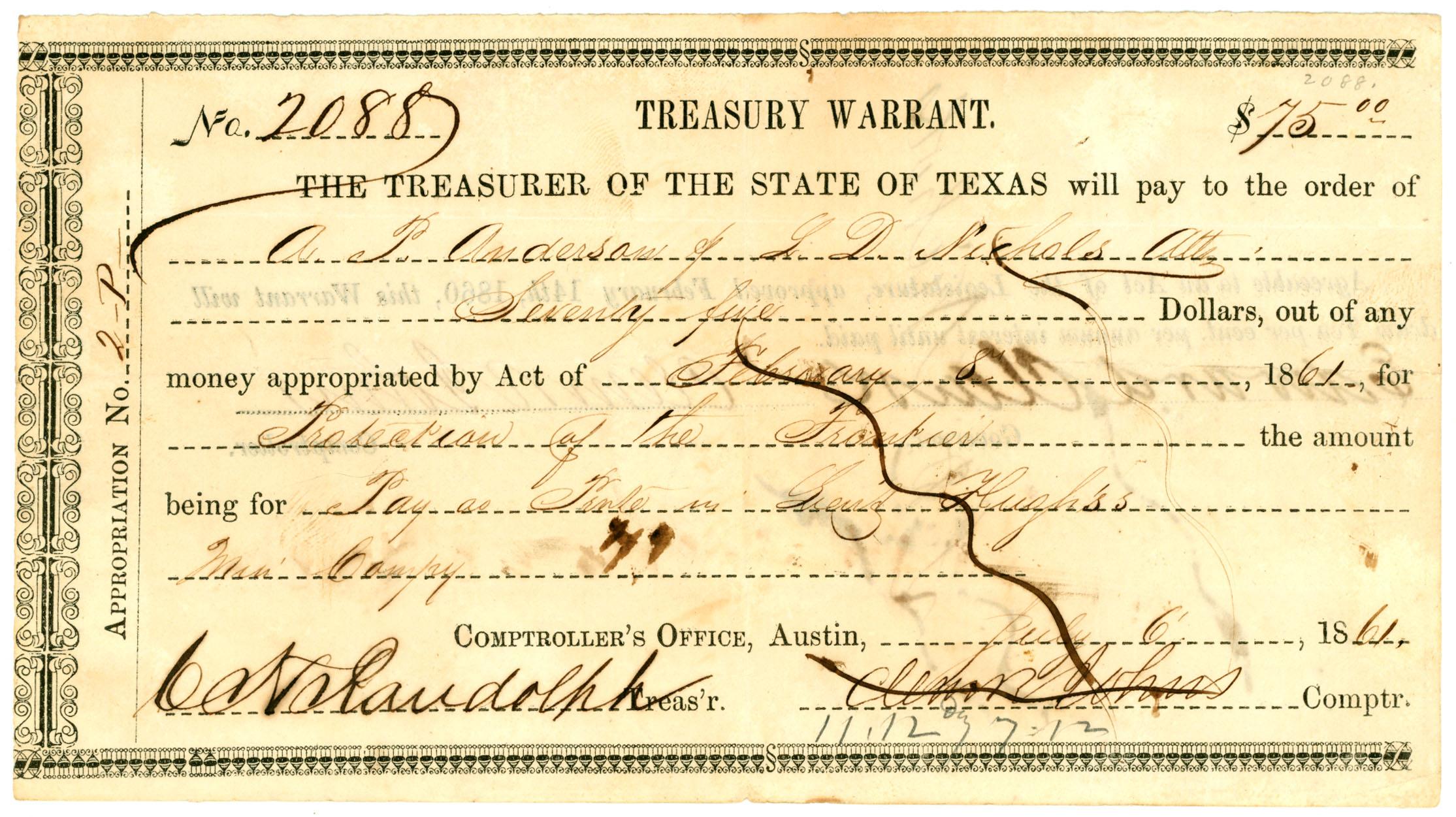 Republic of Texas Paper Money & Documents